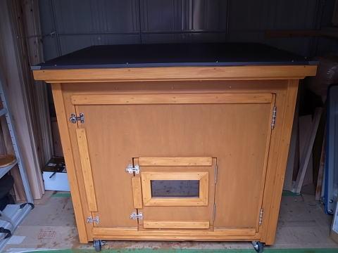 ケージ丸ごと収納の犬小屋