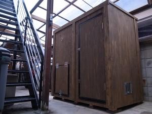 犬小屋出張製作