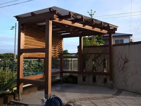 木製自転車置き場