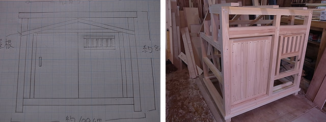 製作の過程と完成品