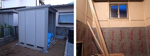 ほどほど防音の物置犬小屋 in東京