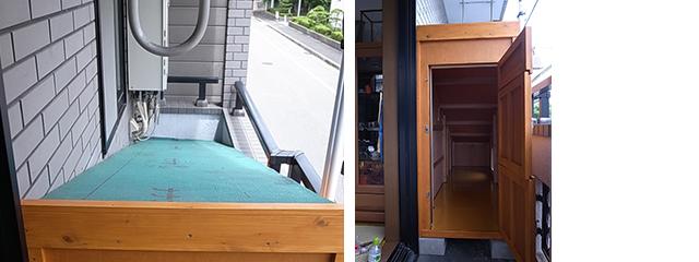 ベランダ幅ぴったりの犬小屋 in大阪
