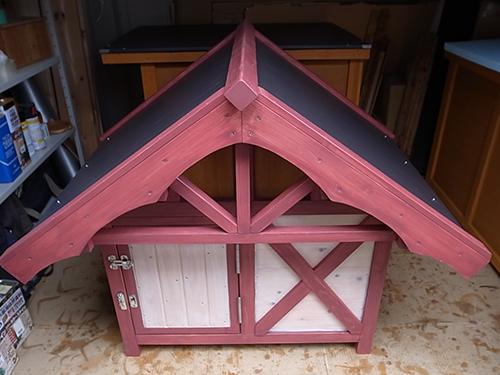 ポスト&ビームの犬小屋